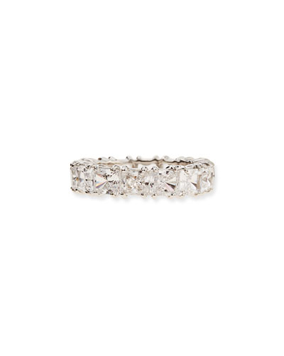 Fantasia by DeSerio Princess-Cut Cubic Zirconia Band Ring