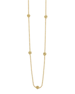 Lagos 18k Yellow Gold Caviar Ball Necklace
