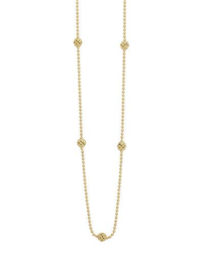 Lagos 18k Yellow Gold Caviar Ball Necklace