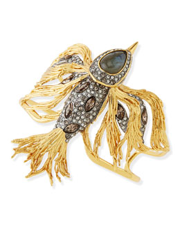 Alexis Bittar Starling Bird Cuff with Labradorite and Crystals