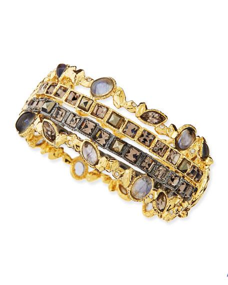 Stacked Rocky Hinge Bracelet