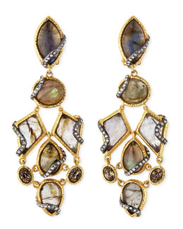 Alexis Bittar Multi-Stone Dangling Clip-On Earrings