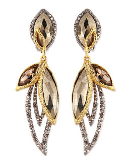 Alexis Bittar Dangling Clip-On Petal Earrings