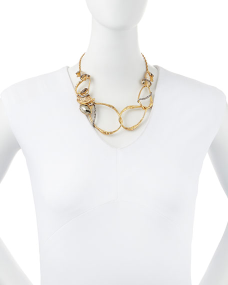 Rocky Link Bib Necklace