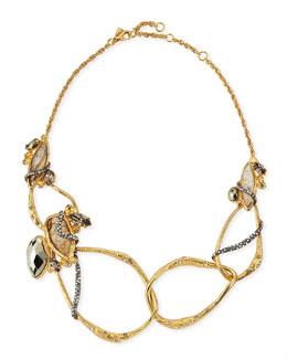 Alexis Bittar Rocky Link Bib Necklace