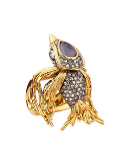 Alexis Bittar Starling Bird Ring with Labradorite and Crystals