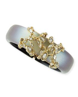 Alexis Bittar Crystal Lace Gray Lucite Bracelet