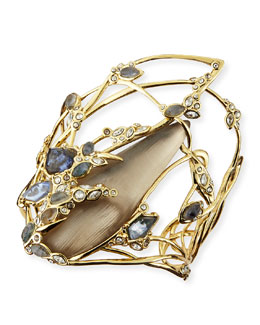 Alexis Bittar Bendable Crystal Lace Doublet Cuff Bracelet