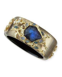 Alexis Bittar Multi Crystal Lace Gray Lucite Bracelet