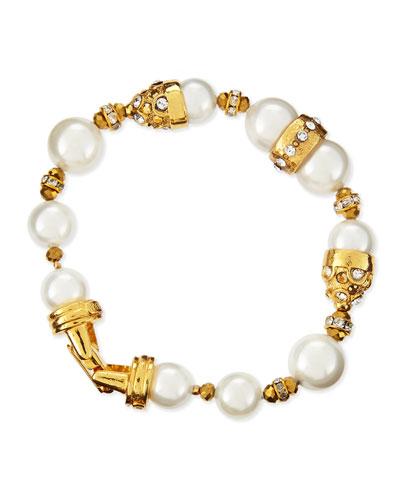 Jose & Maria Barrera 10 & 12mm Pearl Beaded Bracelet