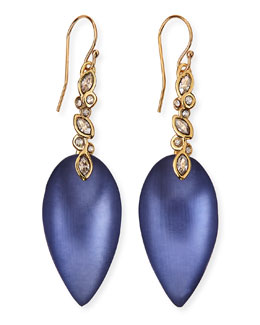 Alexis Bittar Blue Lucite Crystal-Lace Drop Earrings