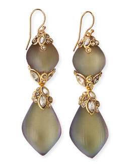 Alexis Bittar Crystal-Lace Double Lucite Drop Earrings