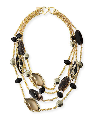 Alexis Bittar Crystal Lace Multi-Chain Necklace