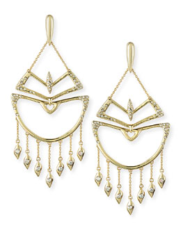 Alexis Bittar Crystal Encrusted Chandelier Earrings
