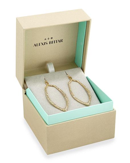 Golden Crystal Teardrop Earrings