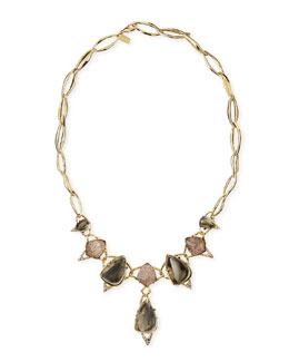 Alexis Bittar Encrusted Link Bib Necklace