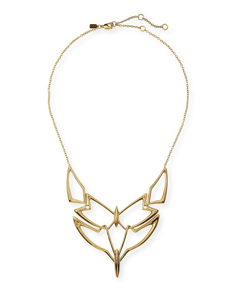 Geometric Linked Bib Necklace