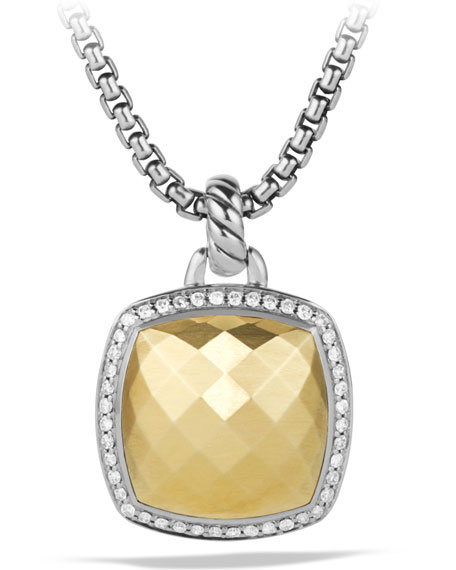 David Yurman Albion Enhancer with Diamonds in Gold