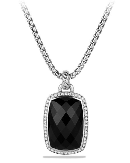 David Yurman Albion Pendant with Onyx and Diamonds