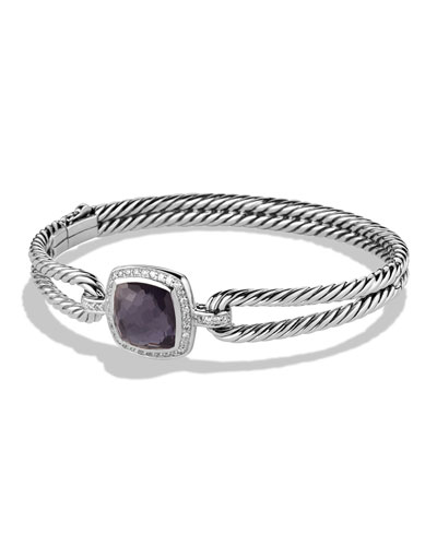David Yurman Albion Bracelet with Black Orchid and
