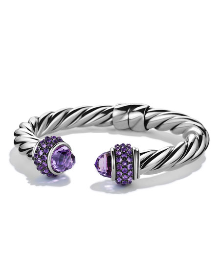 David Yurman Renaissance Reverse Set Bracelet with Amethyst