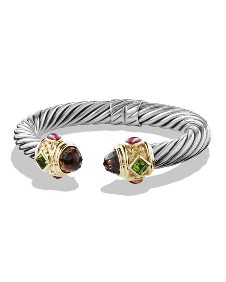David Yurman Renaissance Bracelet with Smoky Quartz, Peridot,