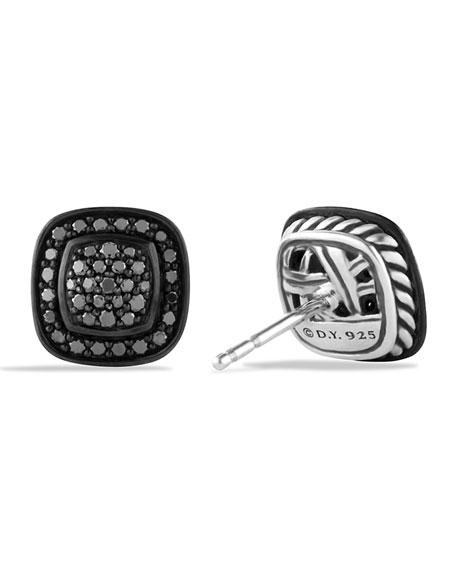 Albion Earrings with Black Diamonds