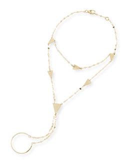 Lana 14-Karat Yellow Gold Crush Hand Chain