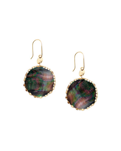 Lana Small Mystic Black Mother-of-Pearl Earrings
