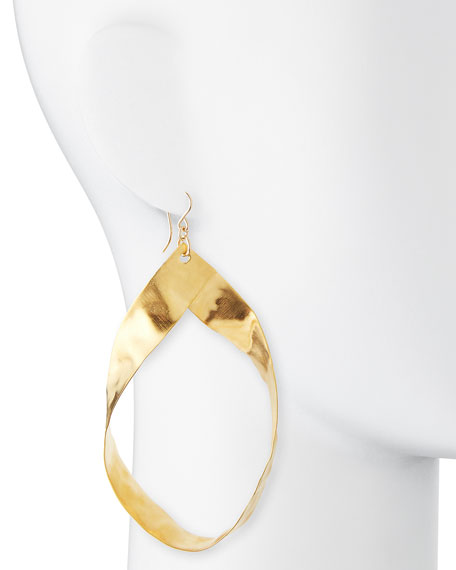 Gold-Plated Twisted Hoop Earrings