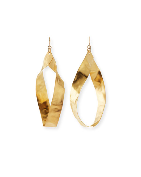Devon Leigh Gold-Plated Twisted Hoop Earrings