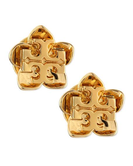 Cecily Golden Flower Stud Earrings