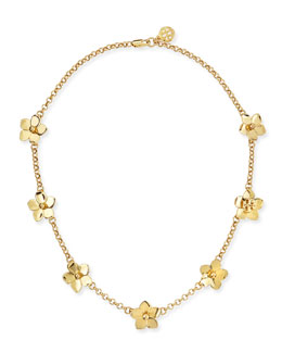 Tory Burch Golden Cecily Simple Floral Necklace