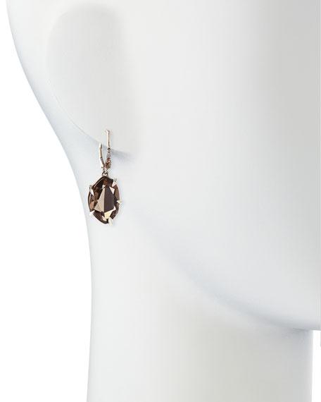 Fancy Smoky Quartz & Diamond Drop Earrings