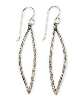 Alexis Bittar Fine Small Marquise-Drop Brown Diamond Earrings