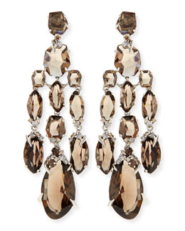 Alexis Bittar Fine Smoky Quartz & Diamond Chandelier Earrings