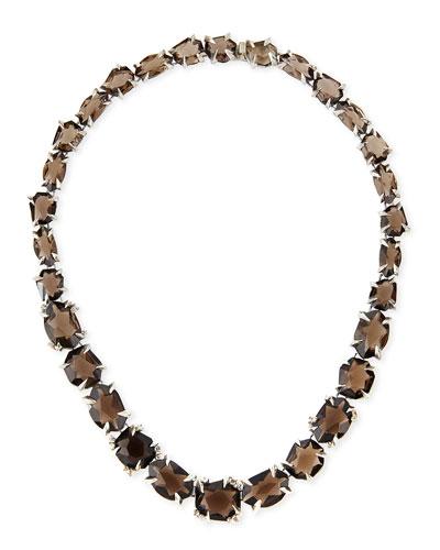 Alexis Bittar Fine Smoky Quartz & Diamond Necklace