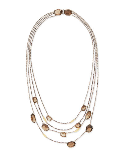 Alexis Bittar Fine 5-Strand Smoky Quartz Necklace