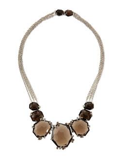 Alexis Bittar Fine Large Smoky Quartz & Diamond Cluster Necklace