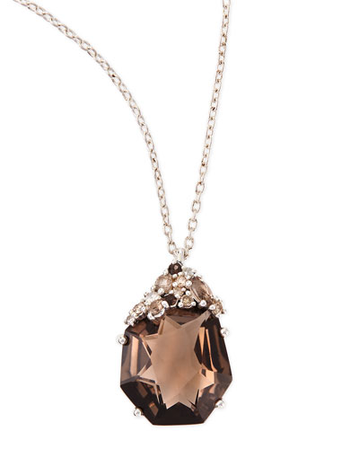 Alexis Bittar Fine Smoky Quartz & Diamond Pendant Necklace