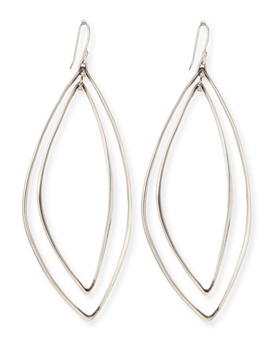 Alexis Bittar Fine Marquise Light Silver Orbit Earrings