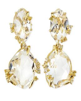 Alexis Bittar Fine Clear Quartz & Light Yellow Sapphire Earrings