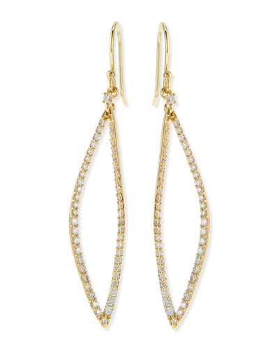 Alexis Bittar Fine Small Marquise Link Diamond Earrings