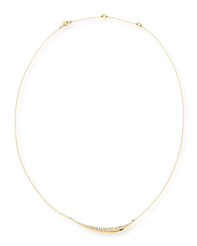 Alexis Bittar Fine 18k Gold Pave Diamond Marquise Necklace