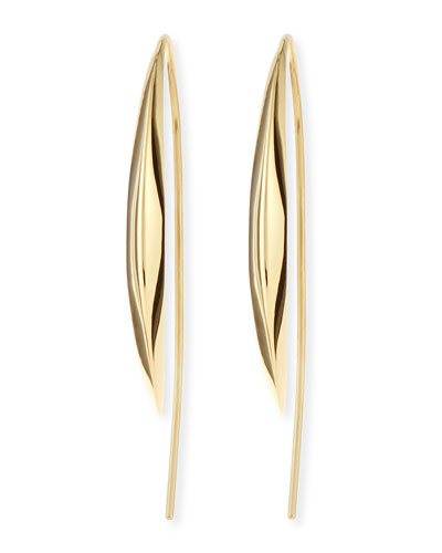Alexis Bittar Fine 18k Medium Marquise Kidney Earrings
