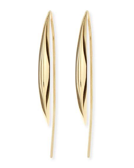 18k Medium Marquise Kidney Earrings