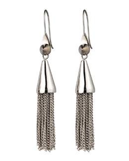 Eddie Borgo Small Silvertone Chain Tassel Drop Earrings