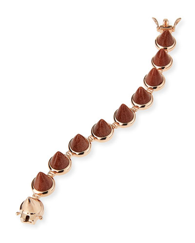 Rose Gold Plated Sandstone Cone Bracelet