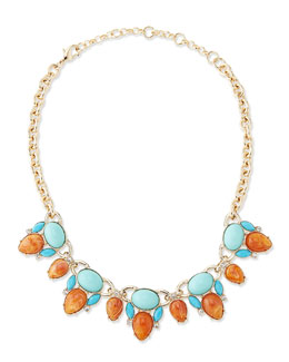 Lee Angel Clustered Crystal Statement Necklace