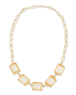 Lee Angel By The Sea Crystal Collar Necklace, Peach